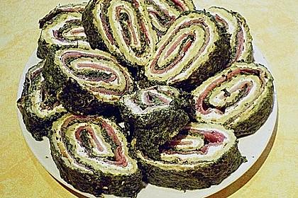 Lachsrolle mit Spinat und Frischkäse 112
