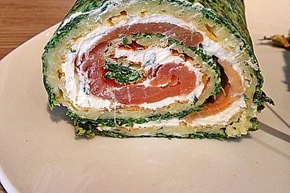 Lachsrolle mit Spinat und Frischkäse 14
