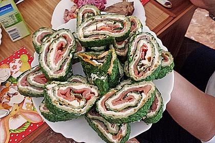 Lachsrolle mit Spinat und Frischkäse 88