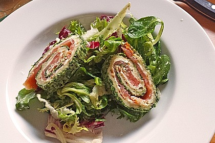 Lachsrolle mit Spinat und Frischkäse 36