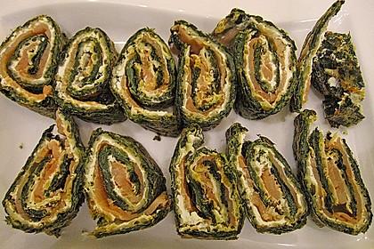 Lachsrolle mit Spinat und Frischkäse 103