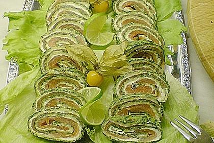 Lachsrolle mit Spinat und Frischkäse 116