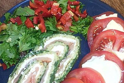 Lachsrolle mit Spinat und Frischkäse 104