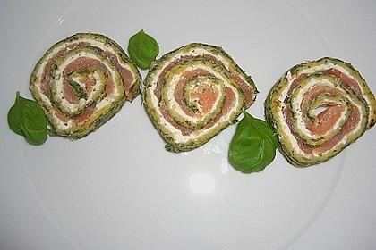 Lachsrolle mit Spinat und Frischkäse 39