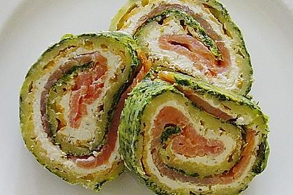 Lachsrolle mit Spinat und Frischkäse 52
