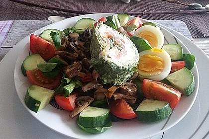 Lachsrolle mit Spinat und Frischkäse 40