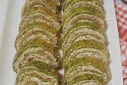 Lachsrolle mit Spinat und Frischkäse 150