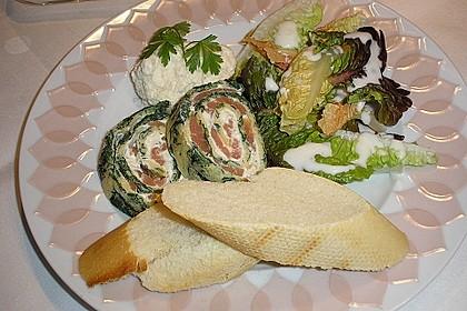 Lachsrolle mit Spinat und Frischkäse 44