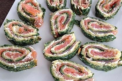 Lachsrolle mit Spinat und Frischkäse 106