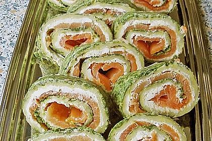 Lachsrolle mit Spinat und Frischkäse 89