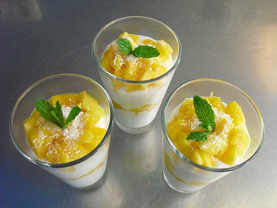 frisches dessert mit mango rezept mit bild von whoopy000. Black Bedroom Furniture Sets. Home Design Ideas