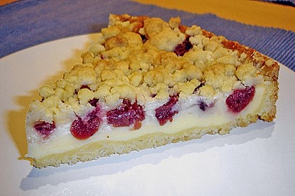 Kuchen mit vanillepudding backen