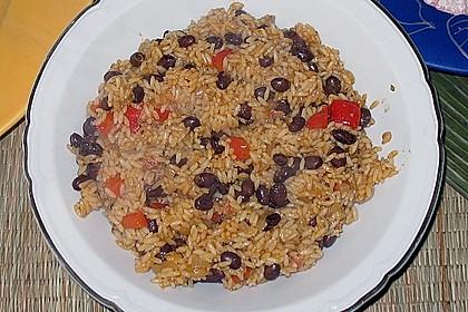 Reis mit schwarzen Bohnen 4