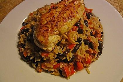Reis mit schwarzen Bohnen 3