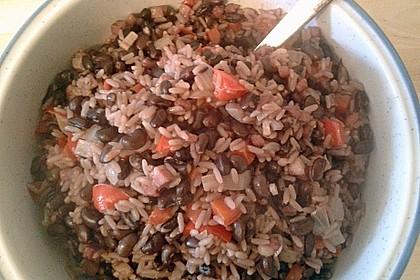 Reis mit schwarzen Bohnen 1