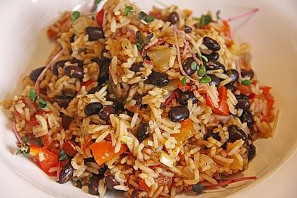 Reis mit schwarzen Bohnen 2