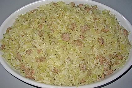 Weißkraut - Reis - Hackfleischauflauf 4
