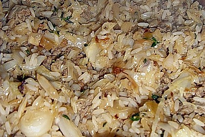 Weißkraut - Reis - Hackfleischauflauf 9