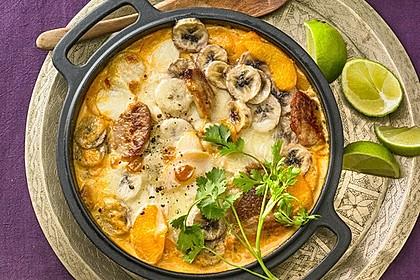 Curry - Filet mit Früchten