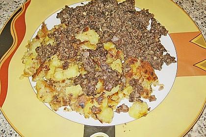 Bratkartoffeln mit Blut - und Leberwurst 5