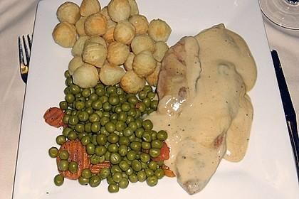 Putenschnitzel in Weißweinsauce