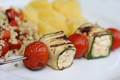 Zucchini - Käse - Spieße 6