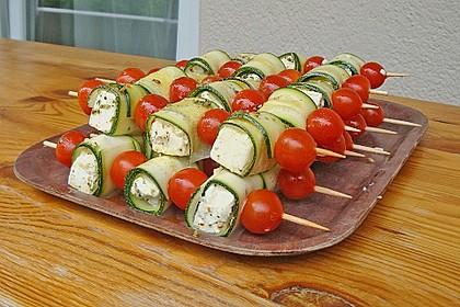 Zucchini - Käse - Spieße 12