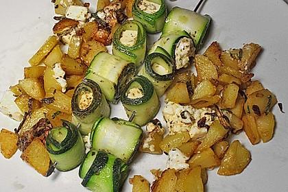 Zucchini - Käse - Spieße 20