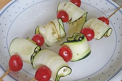 Zucchini - Käse - Spieße 22