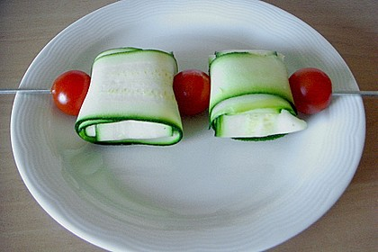 Zucchini - Käse - Spieße 35