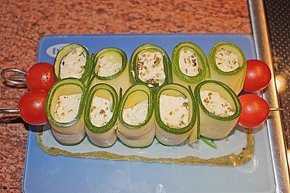 Zucchini - Käse - Spieße 18