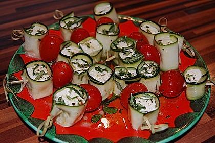 Zucchini - Käse - Spieße 11