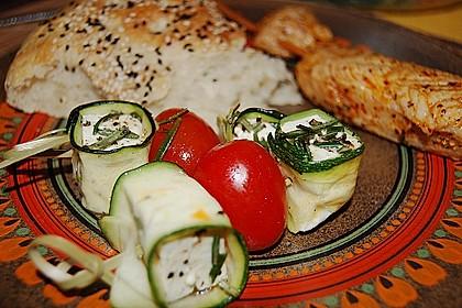 Zucchini - Käse - Spieße 3