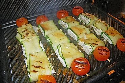 Zucchini - Käse - Spieße 24