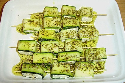 Zucchini - Käse - Spieße 9