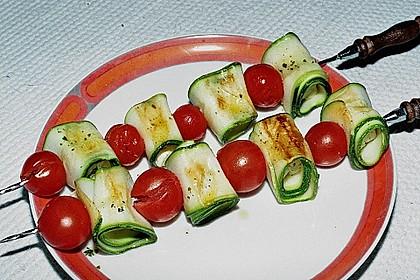 Zucchini - Käse - Spieße 2