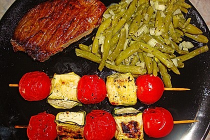 Zucchini - Käse - Spieße 8