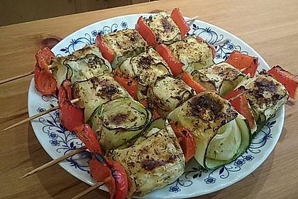 Zucchini - Käse - Spieße 16