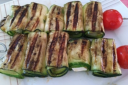 Zucchini - Käse - Spieße 30