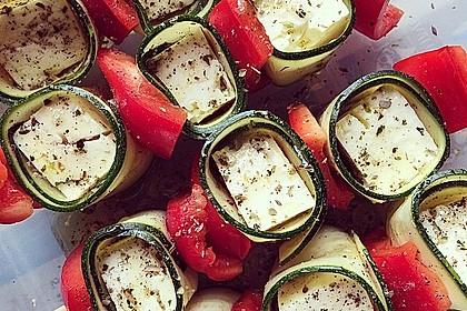 Zucchini - Käse - Spieße 25