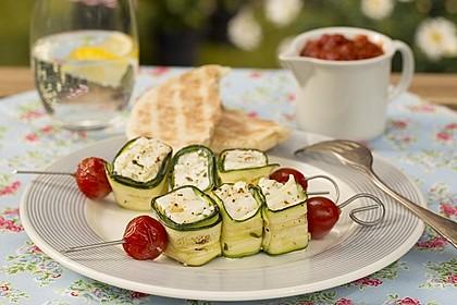 Zucchini - Käse - Spieße 1