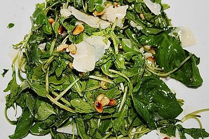 Rucola - Basilikum - Salat mit Pinienkernen und Parmesan 32