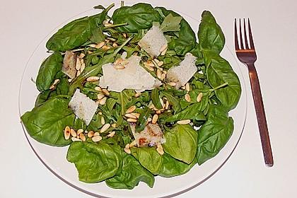 Rucola - Basilikum - Salat mit Pinienkernen und Parmesan 23