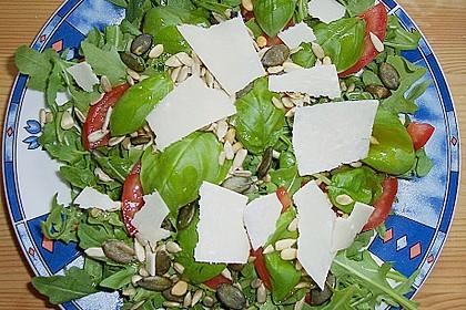 Rucola - Basilikum - Salat mit Pinienkernen und Parmesan 28