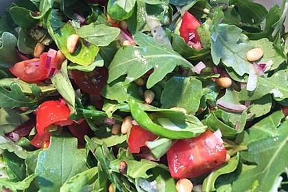 Rucola - Basilikum - Salat mit Pinienkernen und Parmesan 15
