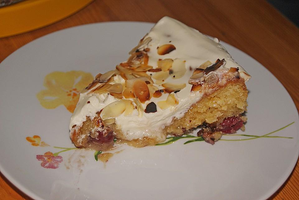 Kuchen creme fraiche kirschen