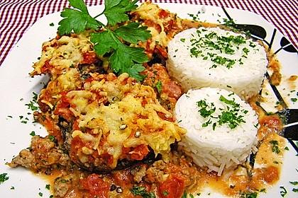 Gefüllte Champignons in Tomaten-Sahne 1