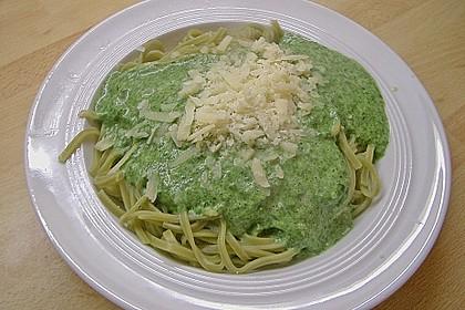 Spaghetti mit Spinatsauce 5