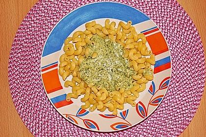 Spaghetti mit Spinatsauce 10