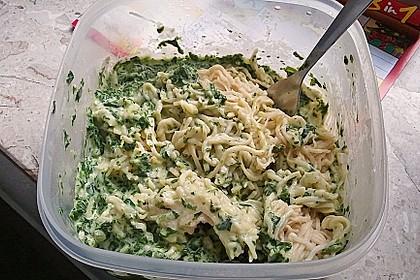 Spaghetti mit Spinatsauce 12